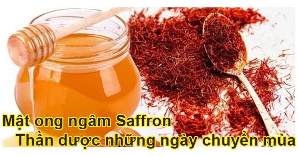 Tác dụng và hướng dẫn ngâm mật ong với saffron