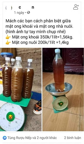 Mật ong trên 1,5kg có phải mật ong chuẩn